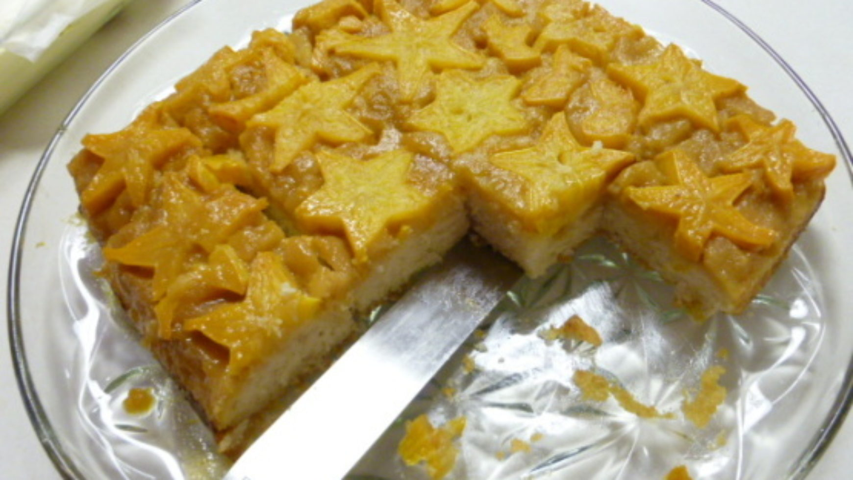 Star Fruit Upside Down Cake